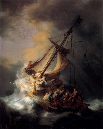 Rembrandt, 1633, Christ In The Storm on the Lake