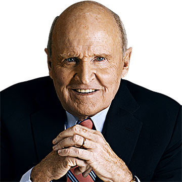 jack welch a leader Jack welch on leadership for some people, the question of whether leaders are born or made is truly intellectual - fodder for a good classroom or dinner party debate, welch writes it.