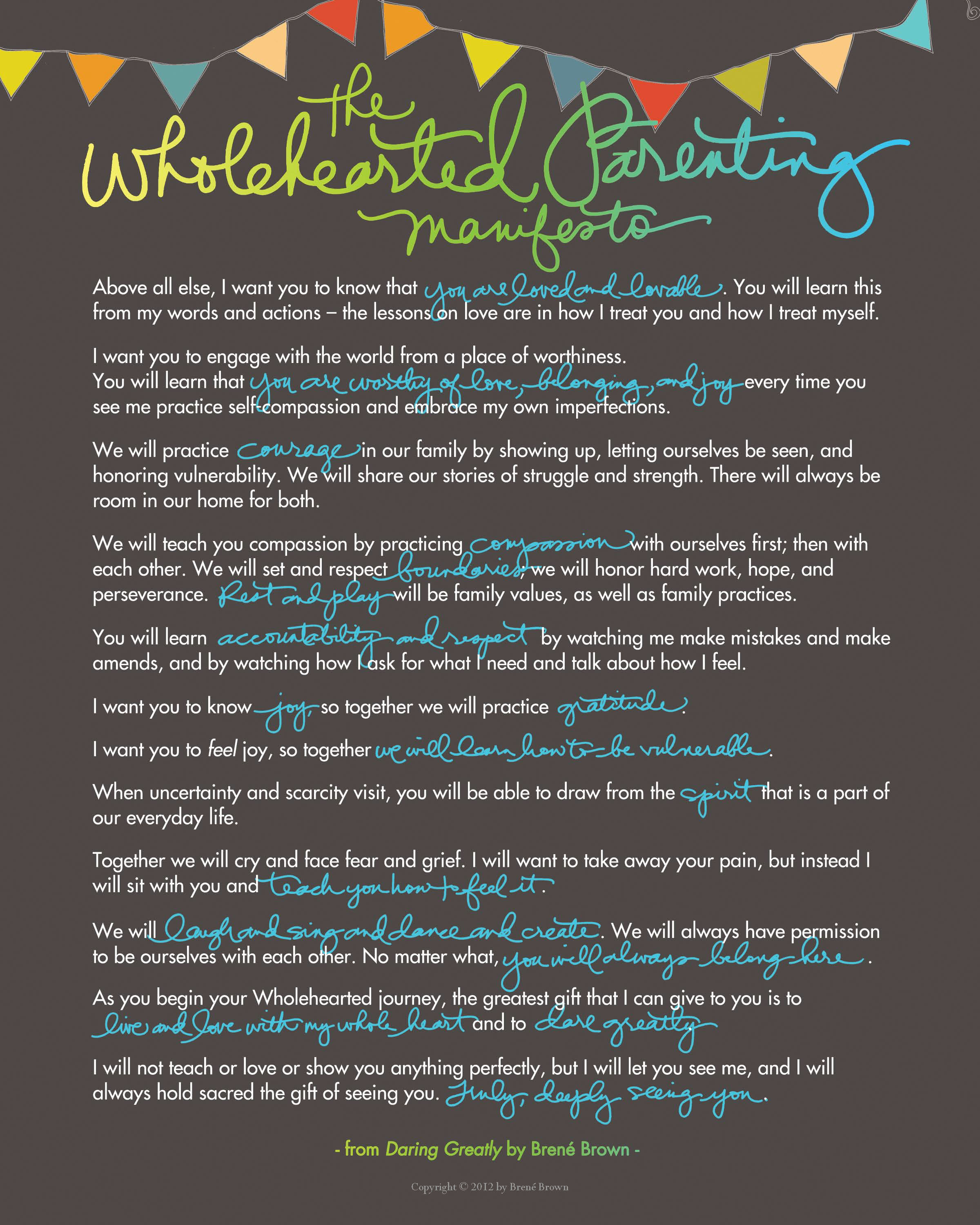 DaringGreatly ParentingManifesto Dark 8x10