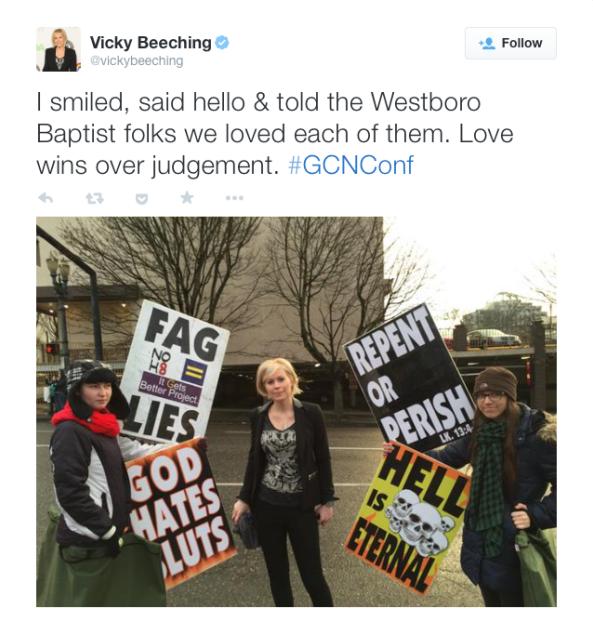 Vicky Beeching, Westboro Love