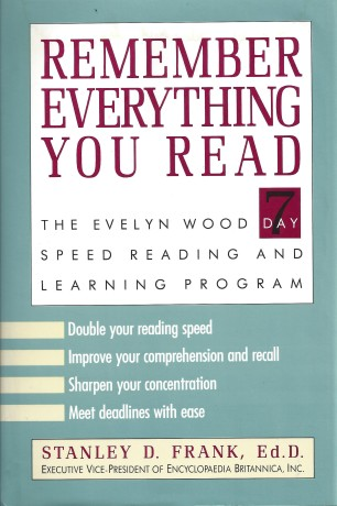 remember everything you read, evelyn wood 7 day speed reading